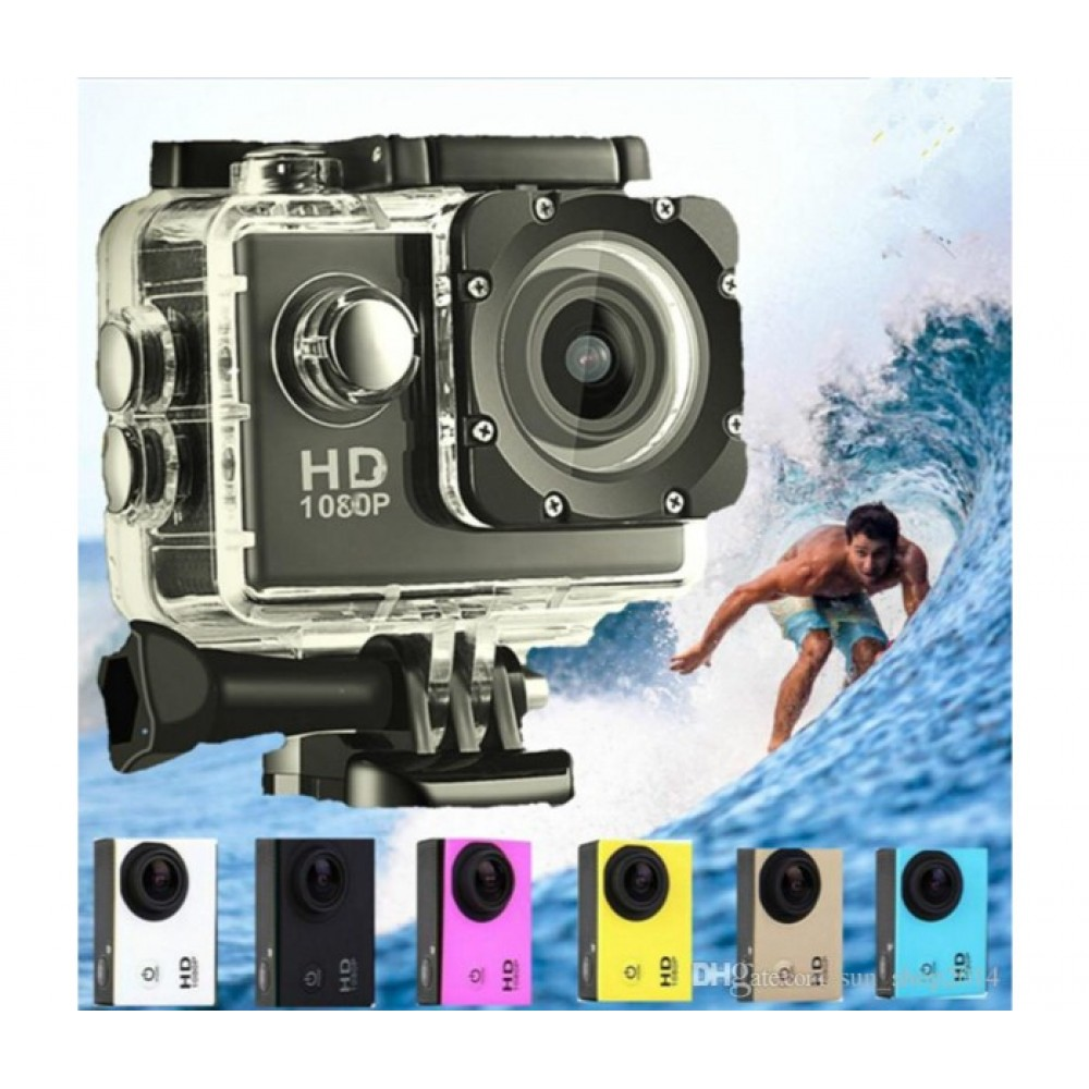 Action Digital Sport Camera 1080P Full HD Assorted Color - A9 SJ4000